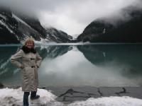 Kathy Reichs visits Lake Louise.